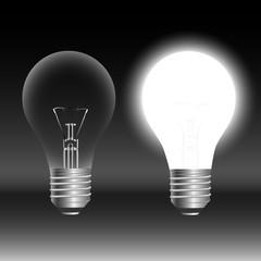 Light bulb idea concept