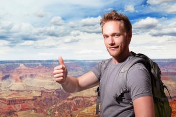 Grand Canyon travel Young man