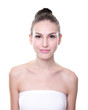 Beautiful young Skin care woman face