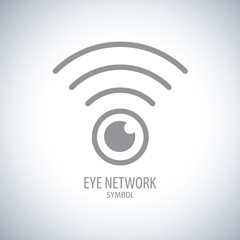Eye network symbol icon