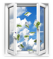 Geld aus dem Fenster werfen