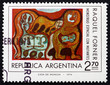 Postage stamp Argentina 1975 Space Monsters, by Raquel Forner