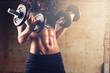 Leinwanddruck Bild - Strong body woman workout