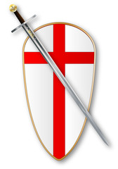Crusaders Shield and Sword
