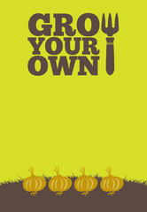 Grow Your Own poster_Onions