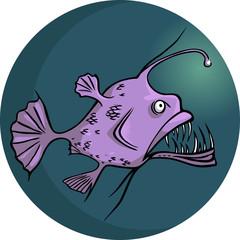 Scary looking deep water ocean fish
