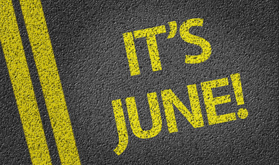 It's June written on the road