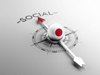 Japan Social Concept