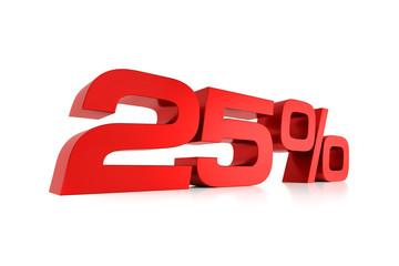 Serie Prozente - 25 Prozent