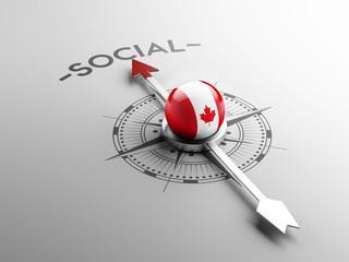 Canada Social Concept