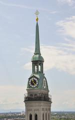 München, Altstadt, Kirche, Turm, St. Peter, Deutschland