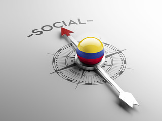 Colombia Social Concept