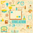 Retro Education Background