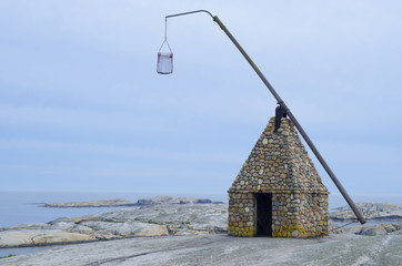 The lighthouse at Verdens End, Norway.