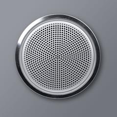 Realistic round metal loudspeaker