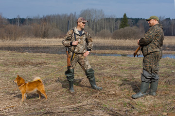 talk of two hunters on the field