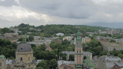 Ukraine, L'viv city .Timelapse. May 28, 2014