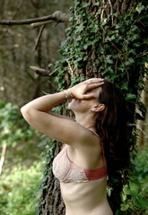 Lady in nature