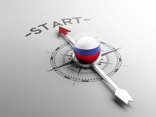 Russia Start Concept
