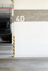 parking lot number wall,parking area