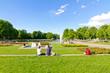 Schlosspark mit Eckensee in Suttgart