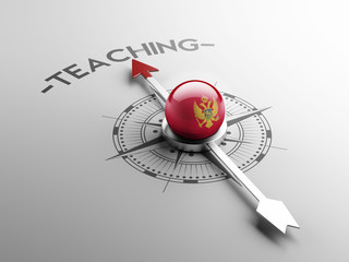 Montenegro. Teach Concept