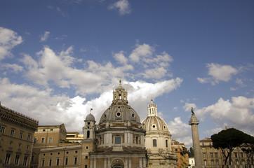 Colonna Traiana e chiese - Roma
