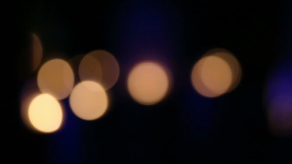 Golden, blur, bokeh lights dark background, VDO HD