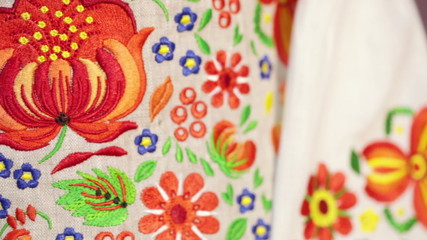 National embroidery shirt