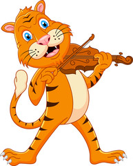Tiger playing his violin