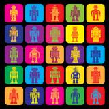 Vintage Tin Toy Robot Icons