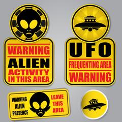 Warning Alien UFO Signs