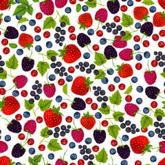Fresh berries seamless pattern