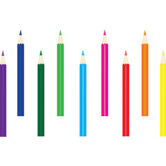 Alternately colored pencils
