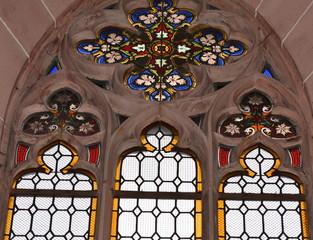 vitraux...cathédrale notre-dame de Bâle... Basler Münster