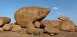 Beautiful balancing granite boulder - 65871379