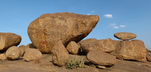Beautiful balancing granite boulder