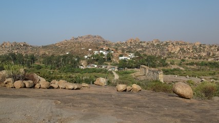 Beautiful scenery near Hampi, India