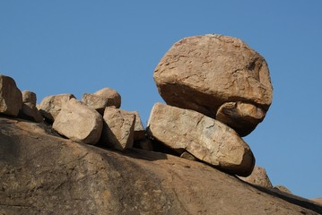Beautiful granite boulder near Hampi, India