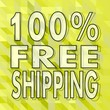 100 percent freeshipping sign on green low poly background