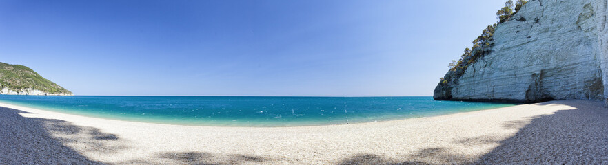 Vignanotica Beach.Big panorama, Gargano, Puglia