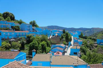 Juzcar Júzcar village des schtroumpfs bleu pitufo andalousie