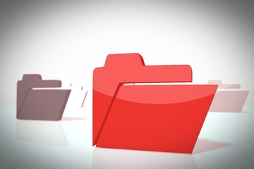 stylish 3d scene with folder sign