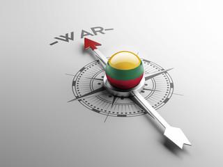 Lithuania War Concept.