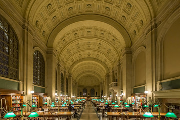 The Architecture of Boston Public Library in MA, USA