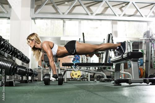 Sexy sportive woman