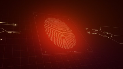 Fingerprint access denied concept