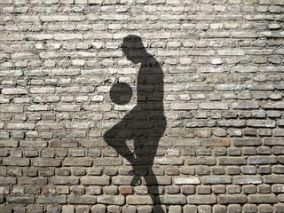 ombre de footballer