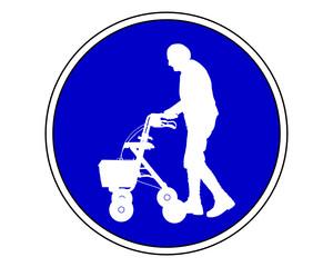 Senioren mit Rollator erlaubt