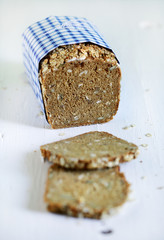 Rye bread danish whole grain sliced loaf with seeds